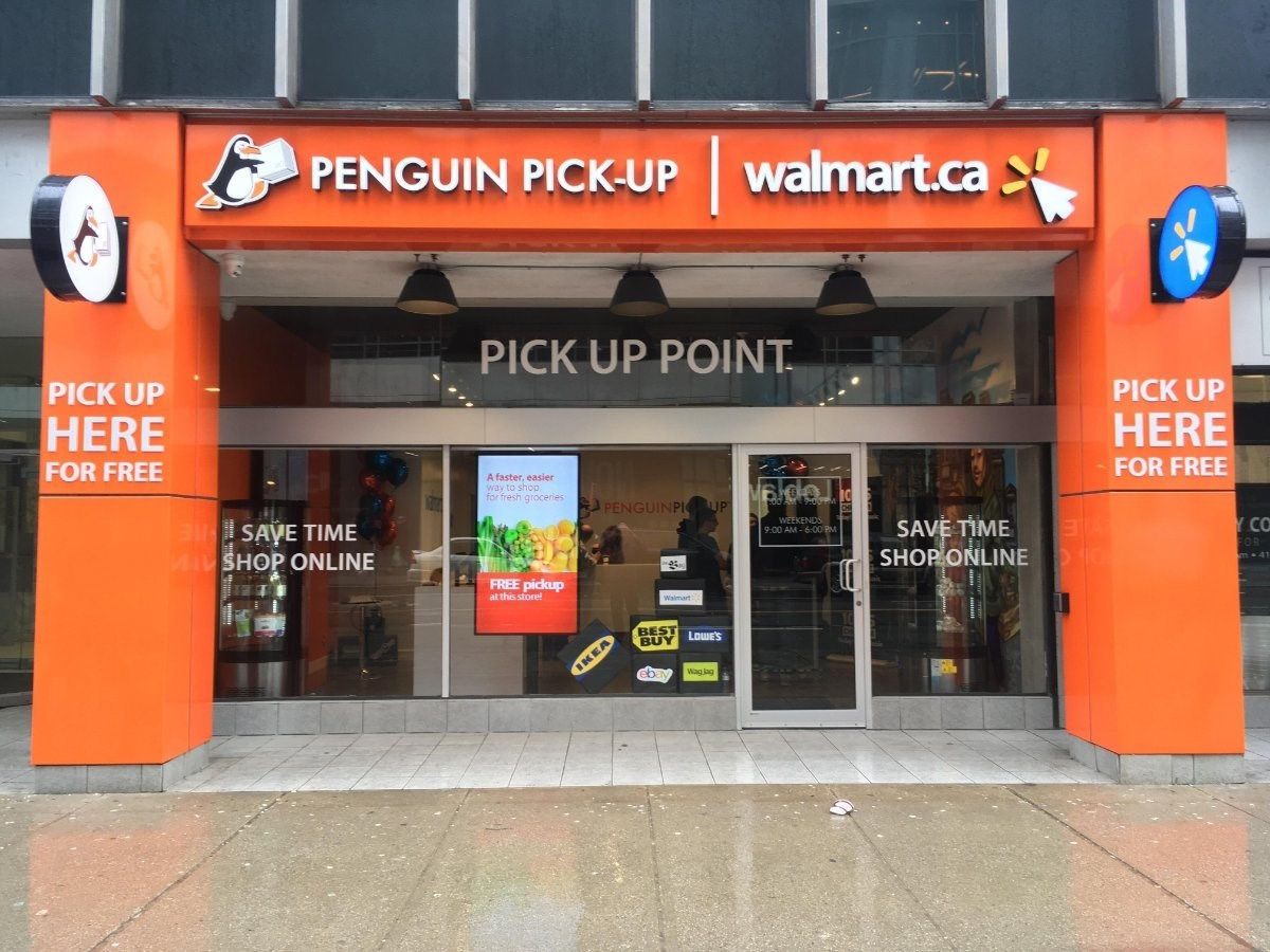 Walmart Canada develops co-branded site with Penguin Pick-up